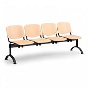 Dřevěná lavice do čekáren ISO Biedrax LC9748 - podnož černá
