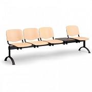 Dřevěná lavice do čekáren ISO Biedrax LC9750 - podnož černá