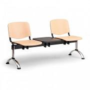Dřevěná lavice do čekáren ISO Biedrax LC9743 - podnož chromovaná