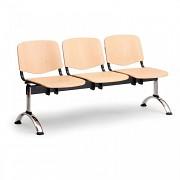 Dřevěná lavice do čekáren ISO Biedrax LC9745 - podnož chromovaná