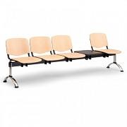 Dřevěná lavice do čekáren ISO Biedrax LC9751 - podnož chromovaná