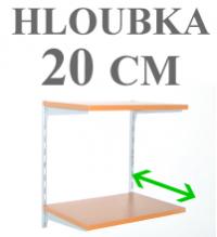 NÁSTĚNNÉ REGÁLY - HLOUBKA 20 CM