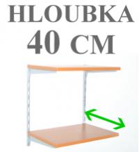 NÁSTĚNNÉ REGÁLY - HLOUBKA 40 CM