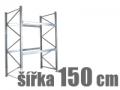 ZÁKLADNÍ REGÁLY ŠÍŘKA 150 CM