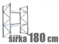 ZÁKLADNÍ REGÁLY ŠÍŘKA 180 CM