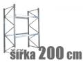 ZÁKLADNÍ REGÁLY ŠÍŘKA 200 CM
