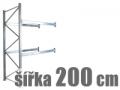 PŘÍDAVNÉ REGÁLY ŠÍŘKA 200 CM
